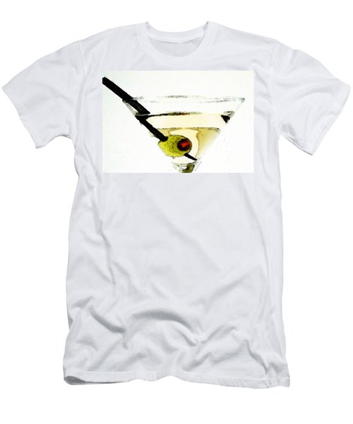Martini With Green Olive Men's T-Shirt (Slim Fit) by Sharon Cummings