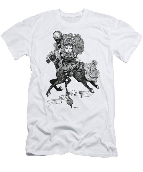 Merry-go-round Girl Men's T-Shirt (Slim Fit) by Akiko Okabe