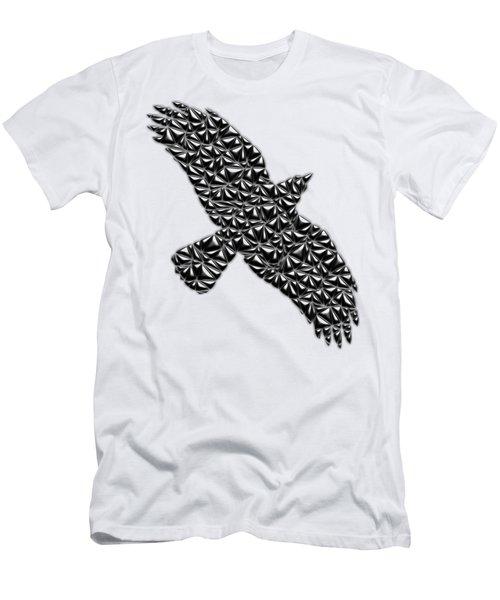 Metallic Crow Men's T-Shirt (Slim Fit) by Chris Butler