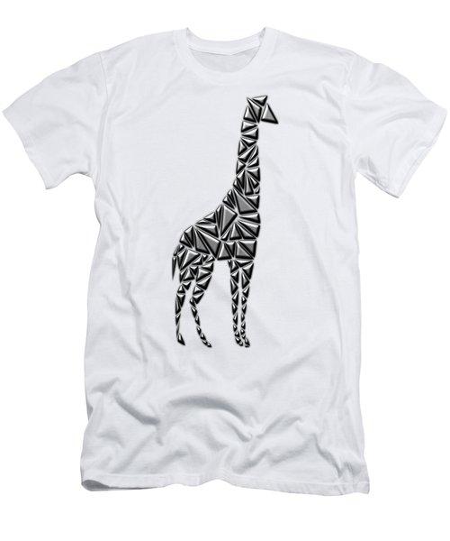 Metallic Giraffe Men's T-Shirt (Slim Fit) by Chris Butler