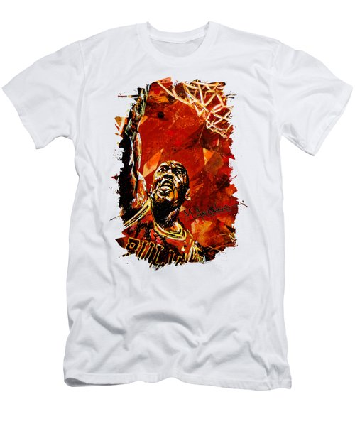 Michael Jordan Men's T-Shirt (Slim Fit) by Maria Arango