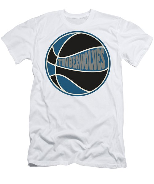 Minnesota Timberwolves Retro Shirt Men's T-Shirt (Slim Fit) by Joe Hamilton