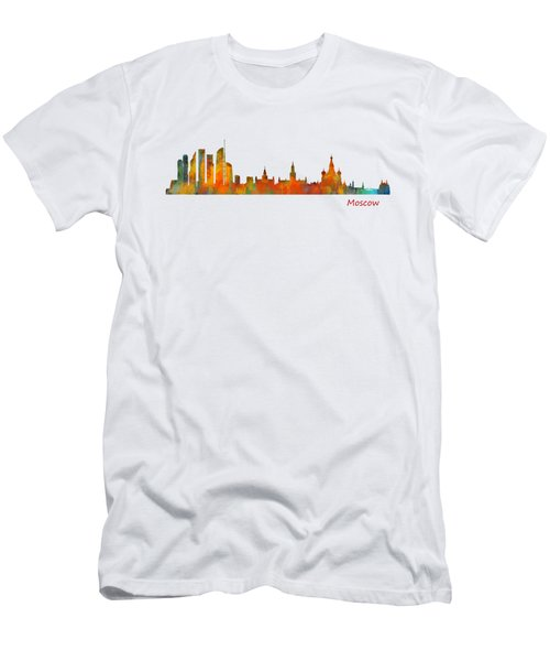 Moscow City Skyline Hq V1 Men's T-Shirt (Slim Fit) by HQ Photo