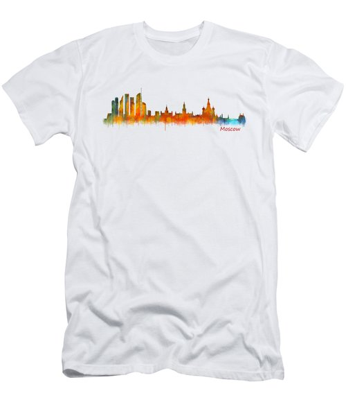 Moscow City Skyline Hq V2 Men's T-Shirt (Slim Fit) by HQ Photo