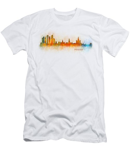 Moscow City Skyline Hq V3 Men's T-Shirt (Slim Fit) by HQ Photo