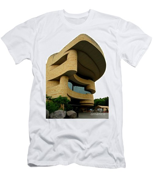 National Museum Of The American Indian 1 Men's T-Shirt (Slim Fit) by Randall Weidner