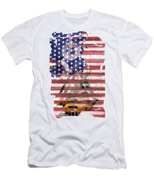 New York City Geometric Mix No. 8 Men's T-Shirt (Slim Fit) by Melanie Viola