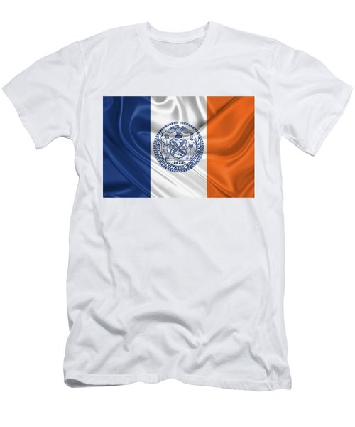 New York City - Nyc Flag Men's T-Shirt (Slim Fit) by Serge Averbukh