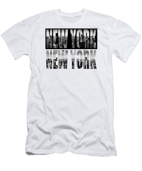 New York New York Men's T-Shirt (Slim Fit) by Az Jackson