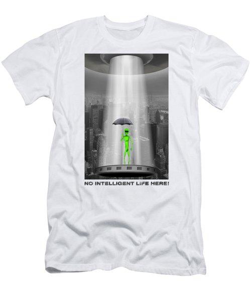 No Intelligent Life Here 2 Men's T-Shirt (Slim Fit) by Mike McGlothlen