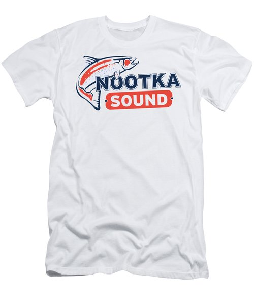 Ns Logo #2 Men's T-Shirt (Slim Fit) by Nootka Sound