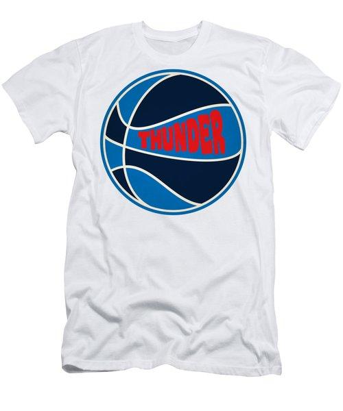 Oklahoma City Thunder Retro Shirt Men's T-Shirt (Slim Fit) by Joe Hamilton