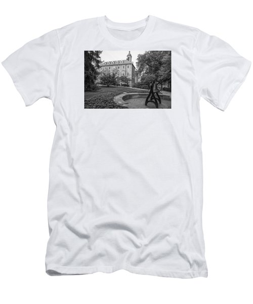 Old Main Penn State University  Men's T-Shirt (Slim Fit) by John McGraw