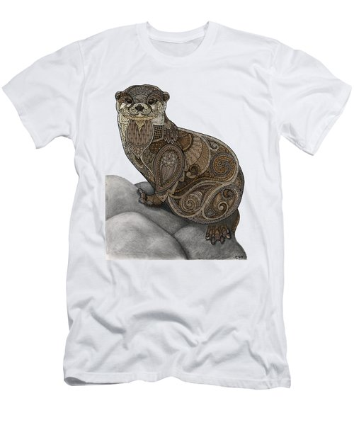 Otter Tangle Men's T-Shirt (Slim Fit) by ZH Field