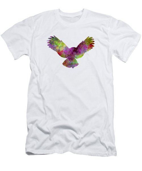 Owl 02 In Watercolor Men's T-Shirt (Slim Fit) by Pablo Romero