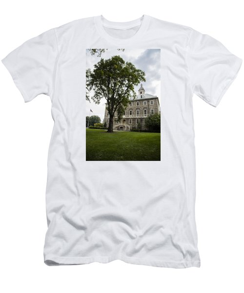Penn State Old Main From Side  Men's T-Shirt (Slim Fit) by John McGraw