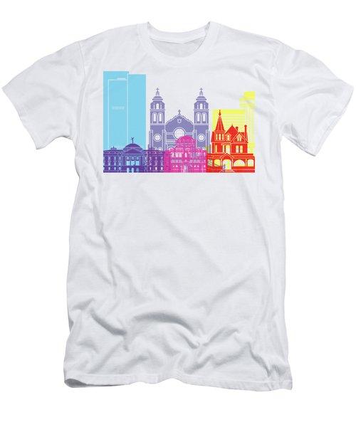 Phoenix Skyline Pop Men's T-Shirt (Slim Fit) by Pablo Romero