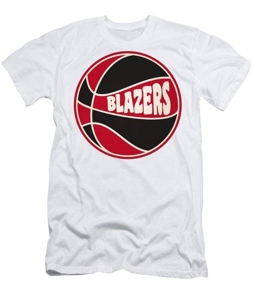 Portland Trail Blazers Retro Shirt Men's T-Shirt (Slim Fit) by Joe Hamilton