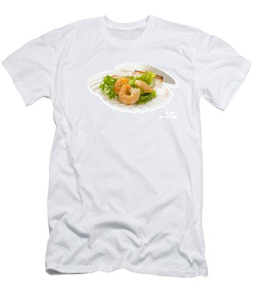Prawn Appetizer Men's T-Shirt (Slim Fit) by Amanda Elwell