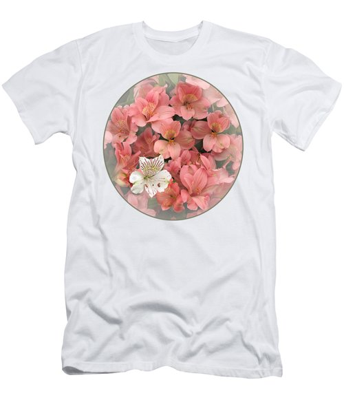 Prima Donna - Alstroemeria Men's T-Shirt (Slim Fit) by Gill Billington