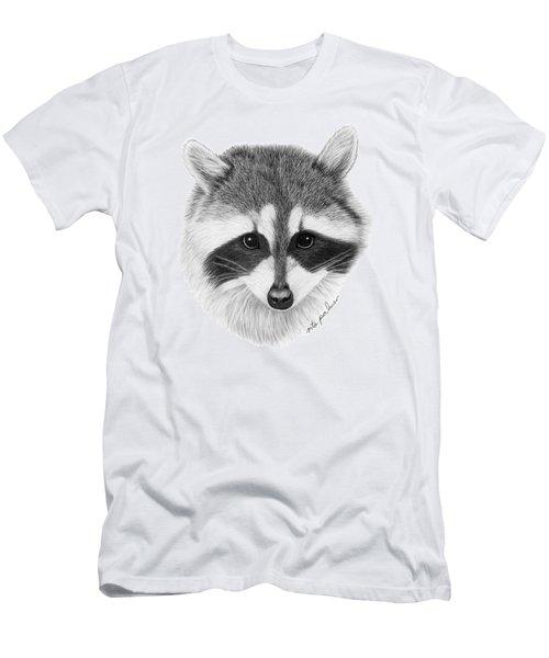 Raccoon Men's T-Shirt (Slim Fit) by Rita Palmer