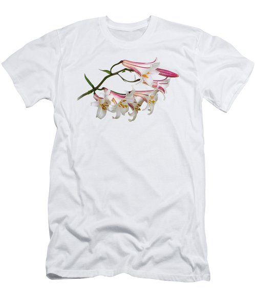 Radiant Lilies Men's T-Shirt (Slim Fit) by Gill Billington