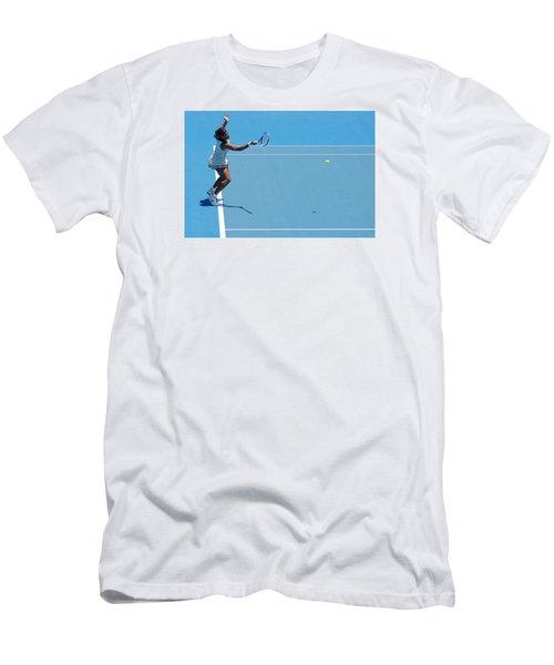 Return - Serena Williams Men's T-Shirt (Slim Fit) by Andrei SKY