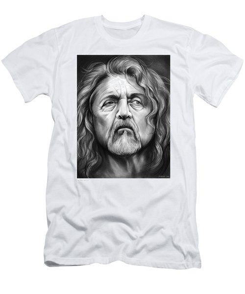 Robert Plant Men's T-Shirt (Slim Fit) by Greg Joens