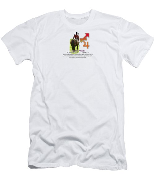 Sagittarius Sun Sign Men's T-Shirt (Slim Fit) by Shelley Overton