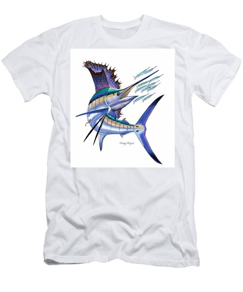 Sailfish Digital Men's T-Shirt (Slim Fit) by Carey Chen