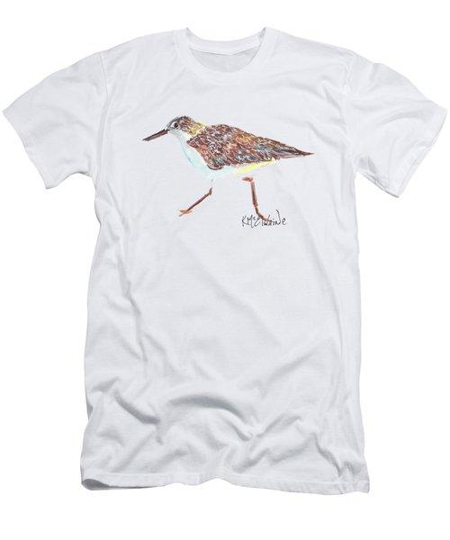 Sandpiper Bird Men's T-Shirt (Slim Fit) by Kathleen McElwaine