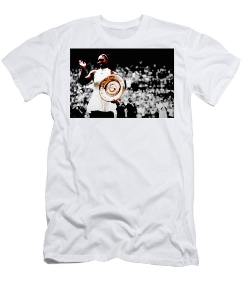 Serena 2016 Wimbledon Victory Men's T-Shirt (Slim Fit) by Brian Reaves