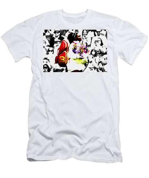 Serena Williams 2f Men's T-Shirt (Slim Fit) by Brian Reaves