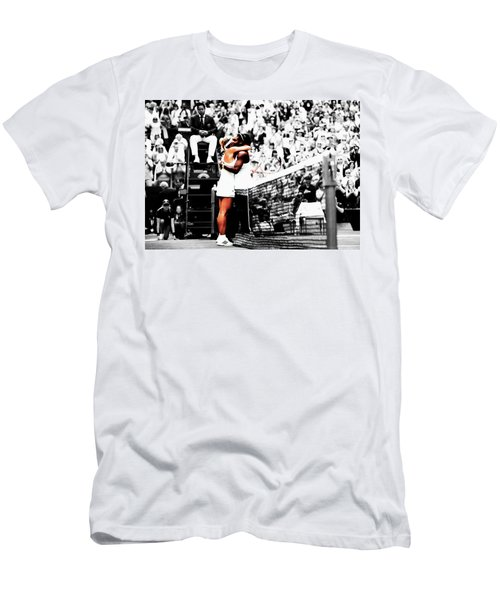 Serena Williams And Angelique Kerber 1a Men's T-Shirt (Slim Fit) by Brian Reaves
