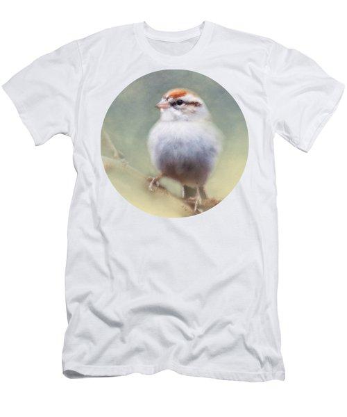 Serendipitous Sparrow  Men's T-Shirt (Slim Fit) by Anita Faye