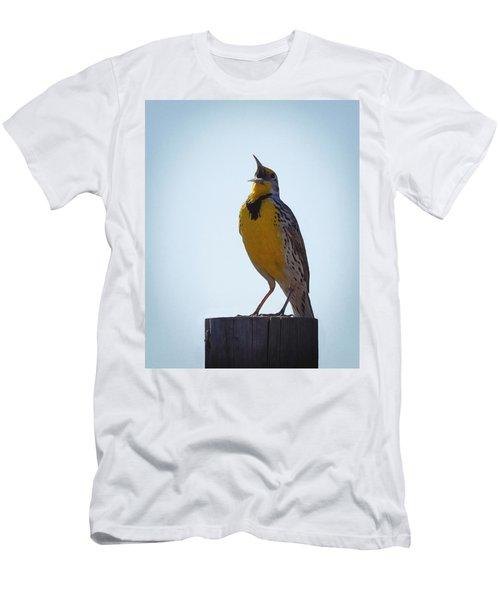 Sing Me A Song Men's T-Shirt (Slim Fit) by Ernie Echols