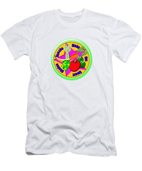 Smart Snacks Men's T-Shirt (Slim Fit) by Linda Lindall