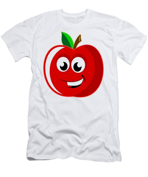 Smiley Tomato With Changeable Background  Men's T-Shirt (Slim Fit) by Sebastien Coell