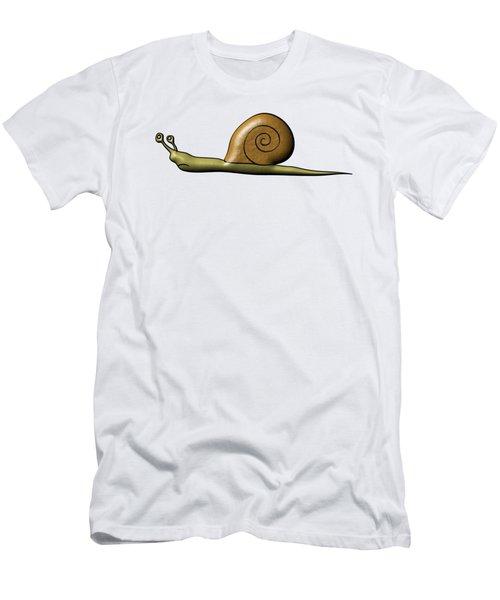 Snail Men's T-Shirt (Slim Fit) by Michal Boubin