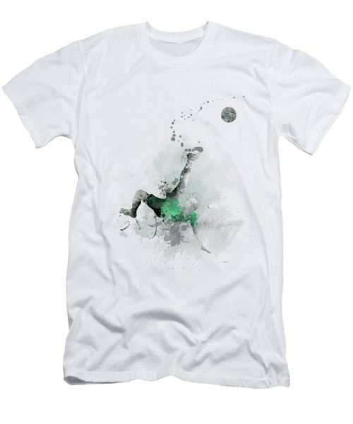 Soccer Player Men's T-Shirt (Slim Fit) by Marlene Watson