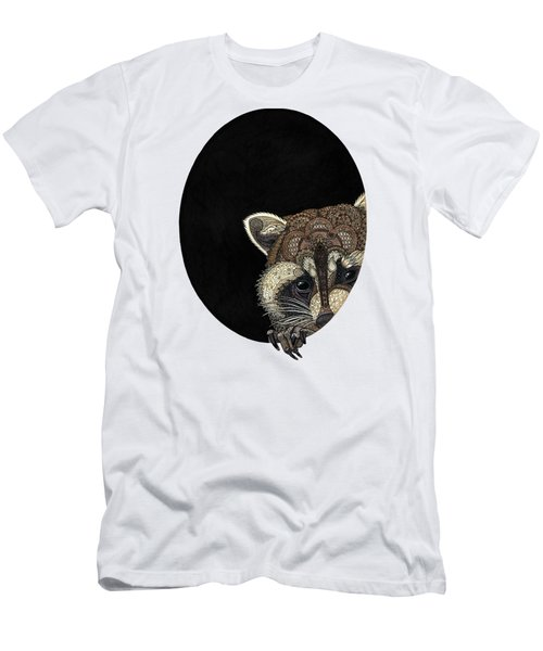 Socially Anxious Raccoon Men's T-Shirt (Slim Fit) by ZH Field