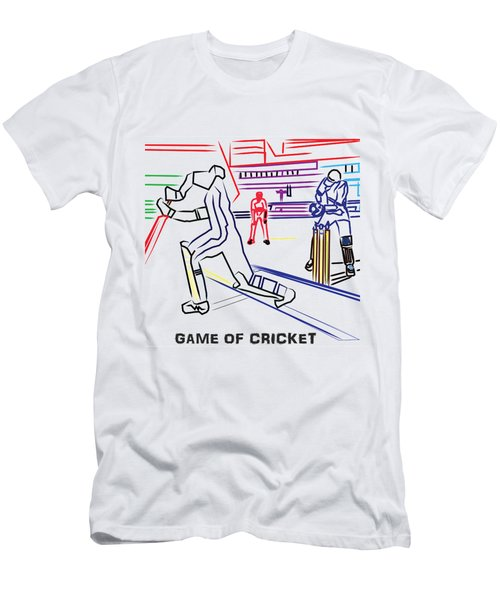 Sports Fan Cricket Played India England Pakistan Srilanka Southafrica Men's T-Shirt (Slim Fit) by Navin Joshi