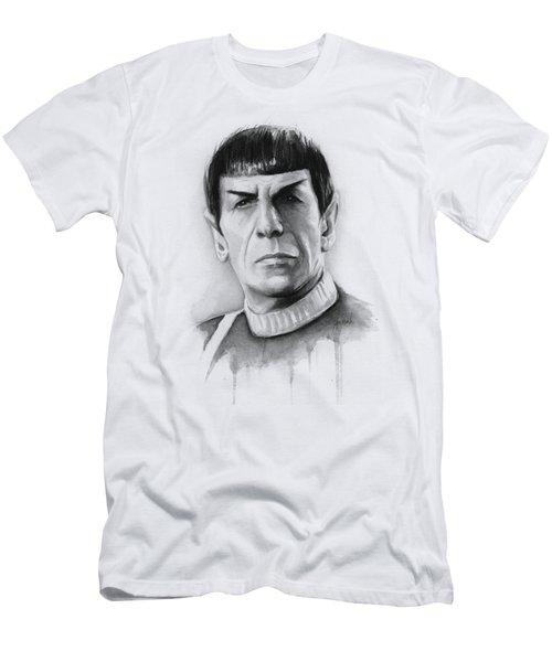 Star Trek Spock Portrait Men's T-Shirt (Slim Fit) by Olga Shvartsur