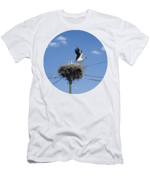 Storks Nest Alentejo Men's T-Shirt (Slim Fit) by Mikehoward Photography
