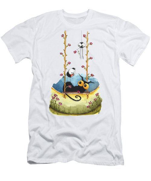 Summer Swing Men's T-Shirt (Slim Fit) by Lucia Stewart