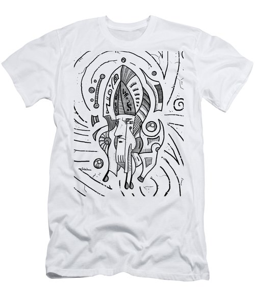 Surrealist Head Men's T-Shirt (Slim Fit) by Erki Schotter