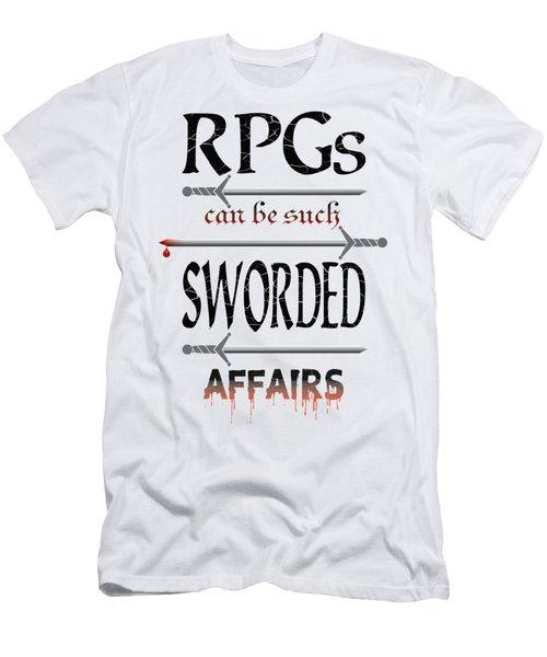 Sworded Affairs Light Men's T-Shirt (Slim Fit) by Jon Munson II