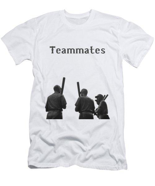 Teammates Poster - Boston Red Sox Men's T-Shirt (Slim Fit) by Joann Vitali