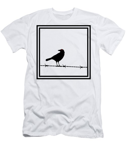 The Black Crow Knows T-shirt Men's T-Shirt (Slim Fit) by Edward Fielding