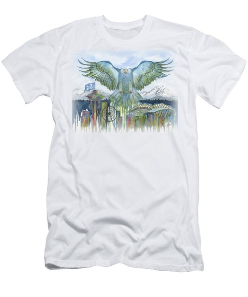 The Blue And Green Men's T-Shirt (Slim Fit) by Julie Senf